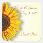 Pegatinas espectaculares del boda del girasol