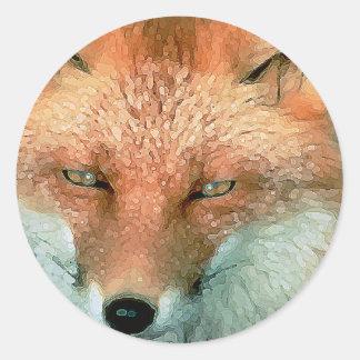 Pegatinas estilizados del Fox Pegatina Redonda