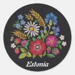 Pegatinas estonios coloridos de las flores salvaje