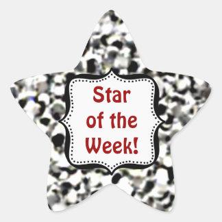 Pegatinas - estrella de plata del estudiante del calcomanía forma de estrella
