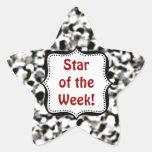 Pegatinas - estrella de plata del estudiante del b