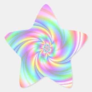 Pegatinas estrellados de la estrella del giro del pegatina en forma de estrella