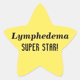 Pegatinas estupendos de la estrella de Lymphedema Pegatina En Forma De Estrella