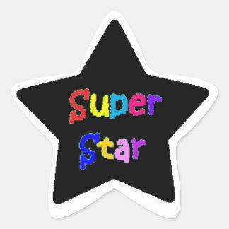 Pegatinas estupendos de la estrella pegatina en forma de estrella