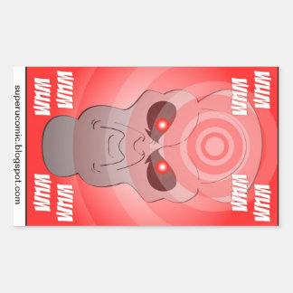 ¡Pegatinas estupendos de U. Alien Ghost! Rectangular Altavoz