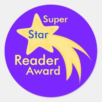Pegatinas estupendos del premio del lector de la etiqueta redonda
