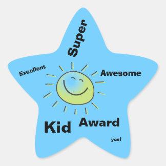 Pegatinas estupendos del premio del niño pegatina en forma de estrella
