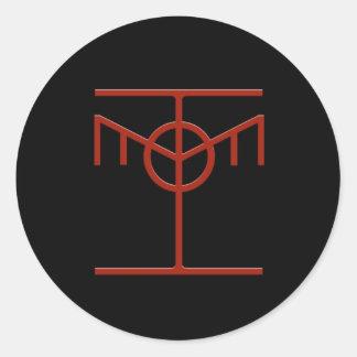 Pegatinas éticos del icono del pirata informático etiqueta redonda
