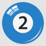 Pegatinas/etiquetas de la bola de piscina de etiquetas redondas