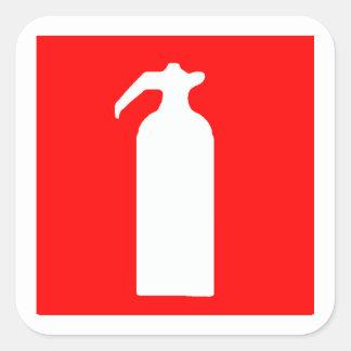 Pegatinas/etiquetas del extintor pegatina cuadrada