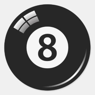 Pegatinas etiquetas mágicos de la bola de piscina