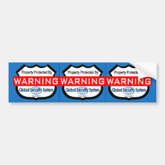 Pegatinas falsos de la seguridad, etiquetas 3 de l pegatina de parachoque