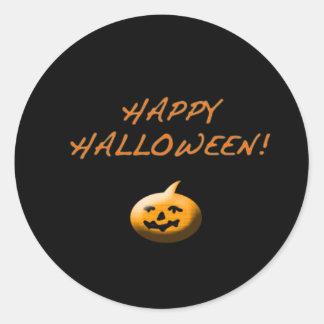 Pegatinas fantasmagóricos de Halloween Etiquetas Redondas
