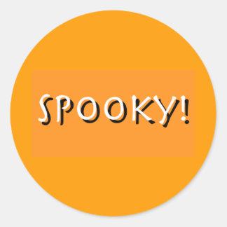 Pegatinas fantasmagóricos de Halloween Pegatina Redonda