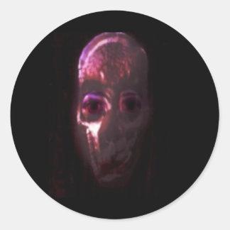 Pegatinas fantasmagóricos de Halloween Etiqueta Redonda
