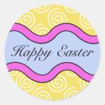 Pegatinas felices coloridos de Pascua