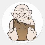 Pegatinas felices de Buda