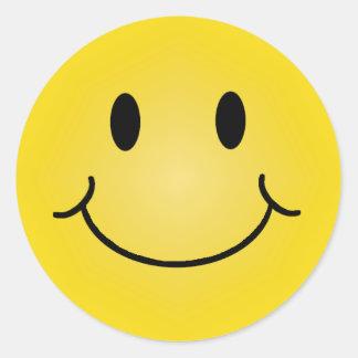 Pegatinas felices de la cara pegatinas redondas