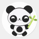 Pegatinas felices de la panda del bebé