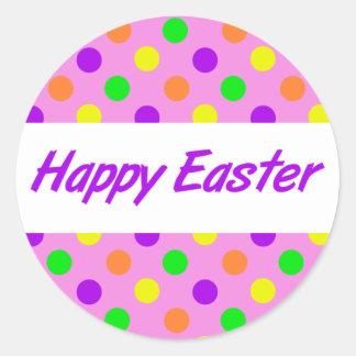 Pegatinas felices de Pascua Etiquetas Redondas