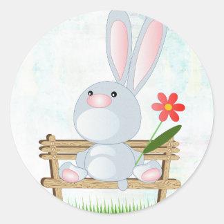 Pegatinas felices de Pascua Etiqueta Redonda