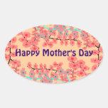 Pegatinas felices del día de madre calcomanías de óvales personalizadas