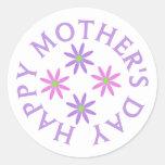 Pegatinas felices del día de madres pegatina redonda
