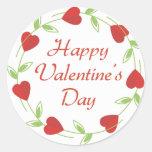 Pegatinas felices del el día de San Valentín Pegatinas Redondas