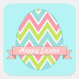 Pegatinas felices del huevo de Pascua Pegatina Cuadrada
