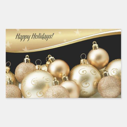 Pegatinas felices del regalo de Holidays.Christmas Pegatina Rectangular