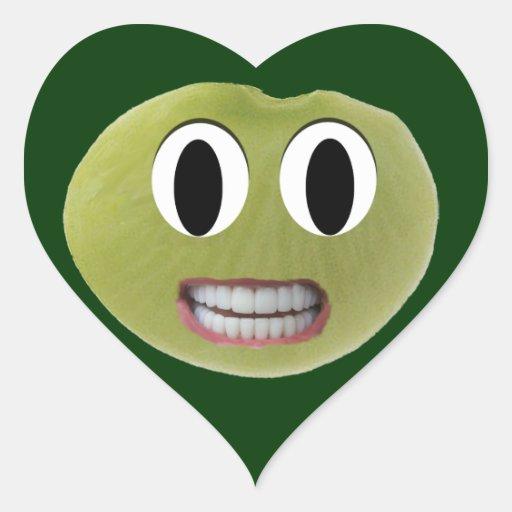 Pegatinas felices sonrientes del corazón de la pegatina en forma de corazón