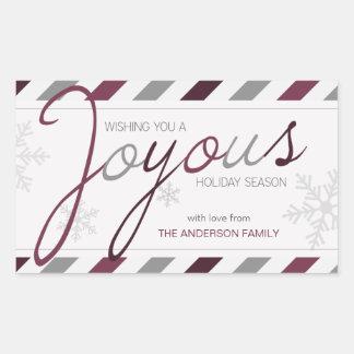 Pegatinas festivos personalizados raya feliz del