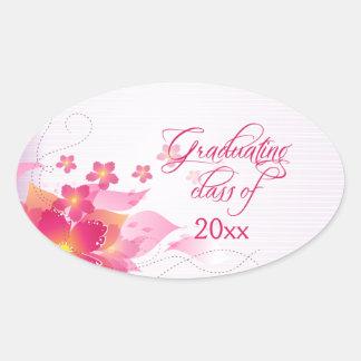 Pegatinas florales de la graduación de las rosas