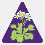 Pegatinas florales de la planta carnívora