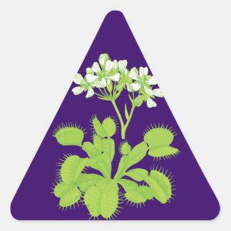 Pegatinas florales de la planta carnívora pegatina triangular