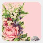 Pegatinas florales del aerosol del vintage
