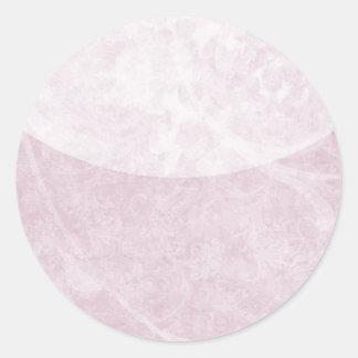 Pegatinas florales purpúreos claros suaves del etiqueta redonda