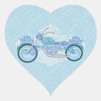 Pegatinas florales románticos del boda del pegatina en forma de corazón