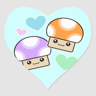 Pegatinas fofos del corazón de Kawaii de la seta Pegatina En Forma De Corazón