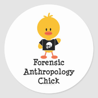 Pegatinas forenses del polluelo de la antropología pegatina redonda