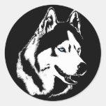 Pegatinas fornidos del Malamute del husky siberian