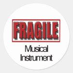 Pegatinas frágiles del instrumento musical