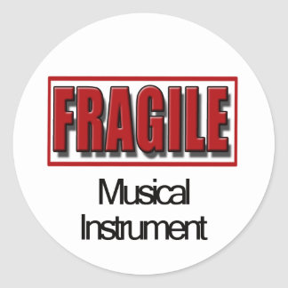 Pegatinas frágiles del instrumento musical pegatina redonda