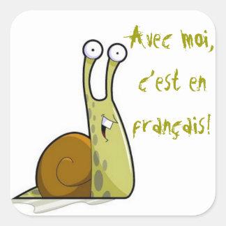 Pegatinas franceses de la clase pegatina cuadrada
