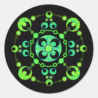Pegatinas frescos del arte del círculo de la pegatina redonda