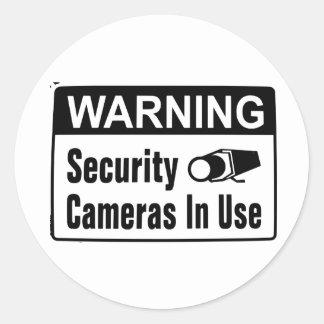 Pegatinas funcionando de la cámara de seguridad pegatina redonda