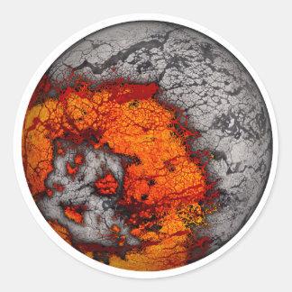 Pegatinas fundidos de la luna (BG blanca)… Etiqueta Redonda