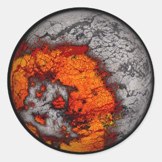 Pegatinas fundidos de la luna… pegatinas redondas