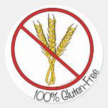 """Pegatinas Gluten-Libres del """"100%"""" (grandes)"""
