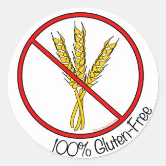 Pegatinas Gluten-Libres del 100 grandes